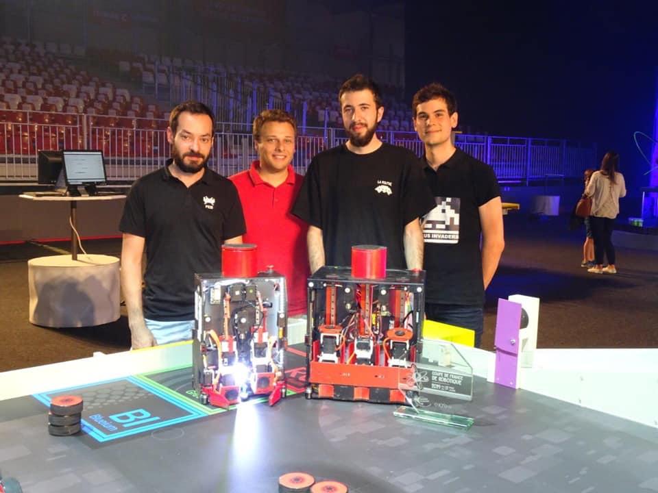 SUSSUS Invaders gagnants de la Coupe de France de Robotique 2019
