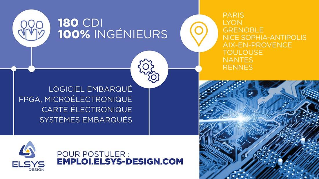 Recrutement d'ingénieurs chez ELSYS Design