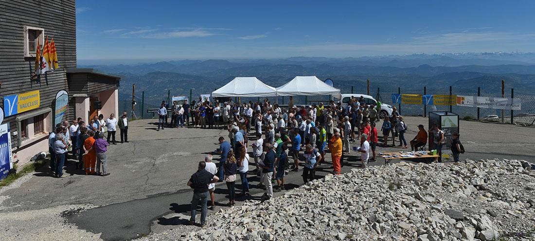 Infoclimat, inauguration station météo au sommet du Mont Ventoux